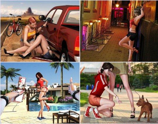 3d Lesbians Art